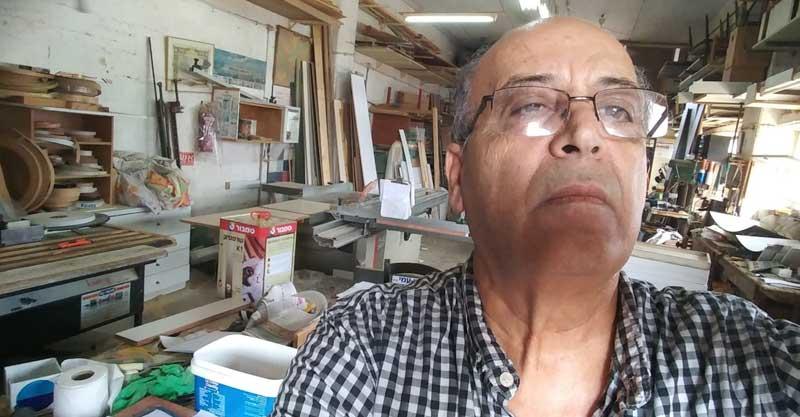 יצחק אלבז בנגריה שלו בסולל בונה