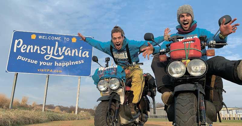 יונתן בייליק משמאל, ומייק ריד מימין צילום Wheeling For the world