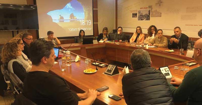 ישיבת ועדת החינוך העירונית היום. צילום: עיריית כפר סבא