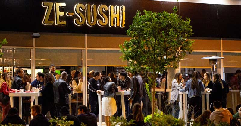 """פתיחת מסעדת """"זה סושי"""" במתחם WESTPARK רעננה. צילום: יונתן בורק"""