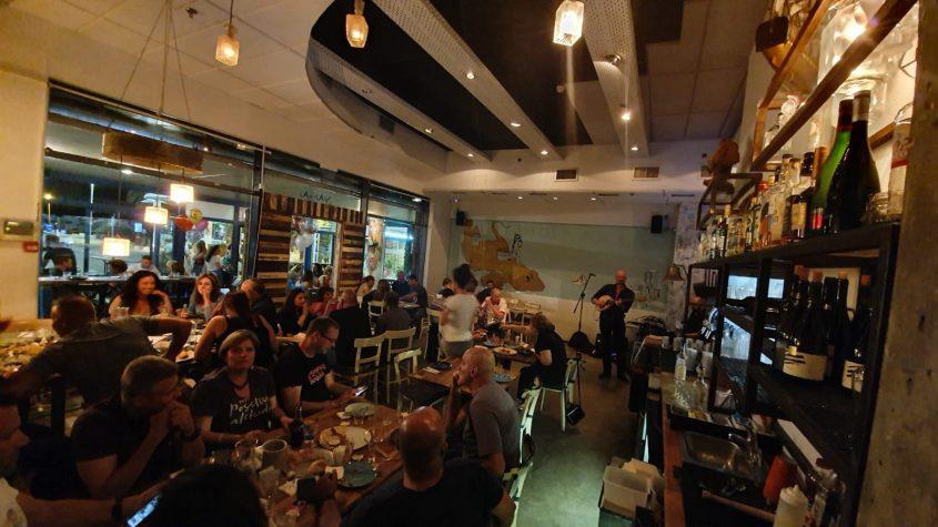 """""""יאמס"""" - מסעדה יוונית באווירה ייחודית. צילום עצמי"""