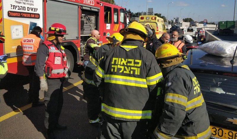 התאונה בכביש 531. צילום דוברות הכבאות