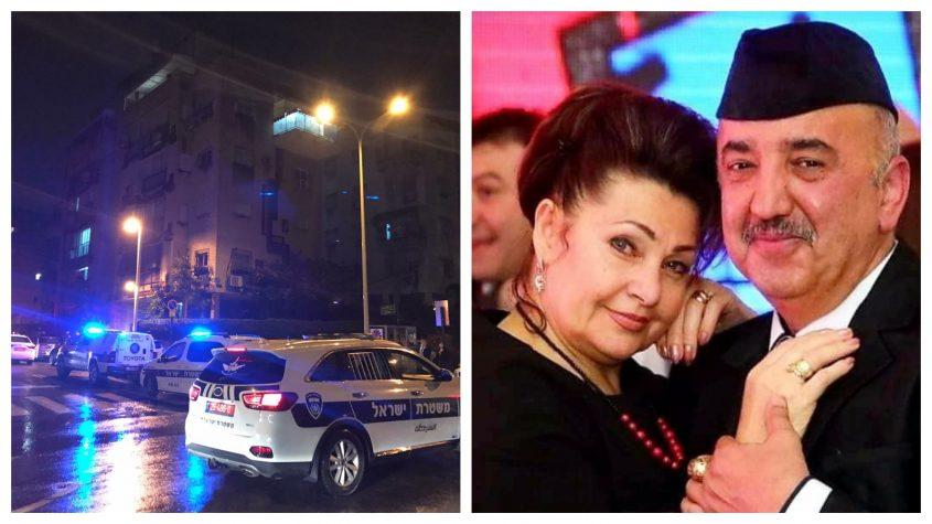 בני הזוג ילנה יצחקבייב וסלביק מבשב, וזירת האירוע. צילומים רמי לוי, מתוך הפייסבוק