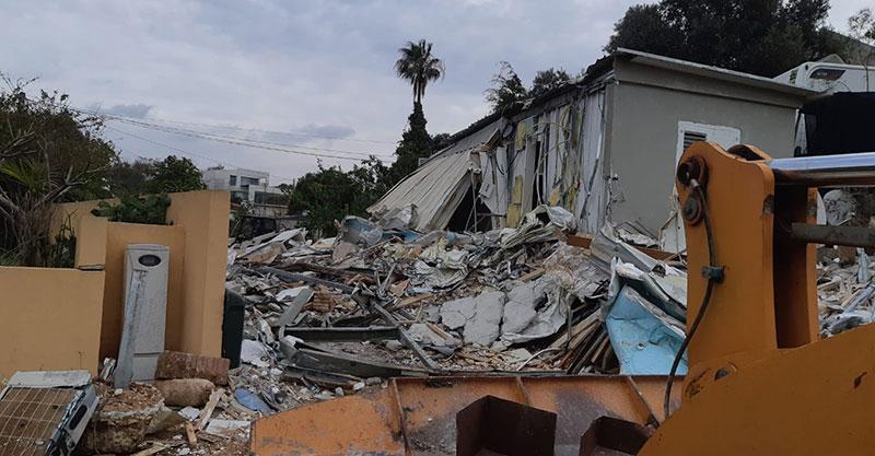 הריסת אחד הבתים של שמעון קרקר כחלון
