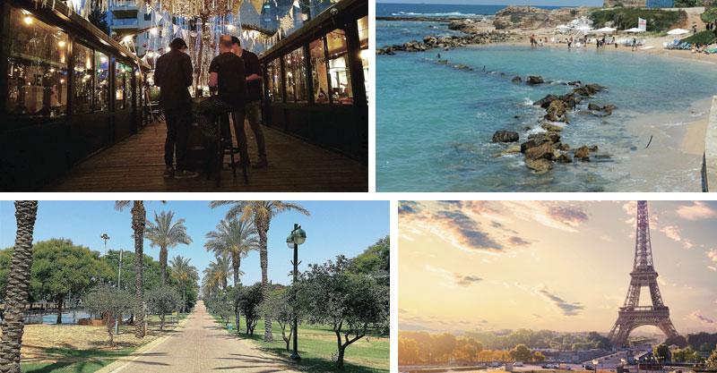 חצר השוק, פארק רעננה, פריז, קיסריה. צילומים עזרא לוי, רמי שלוש, א.ס.א.פ קריאייטיב/INGIMAGE