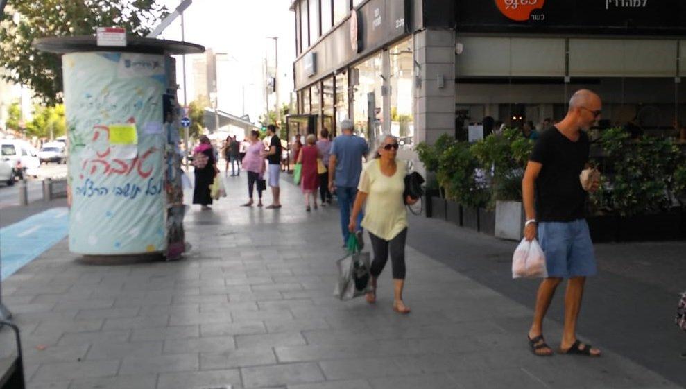 רחוב סוקולוב בהרצליה. צילום מיטל ליאור גוטמן