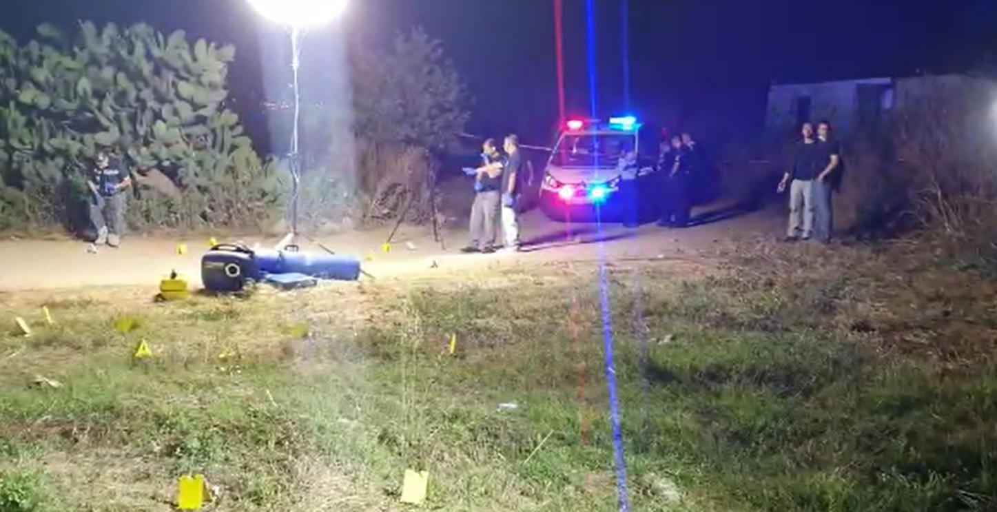זירת הירי בטירה מתוך סרטון של המשטרה