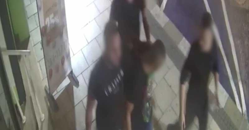 התקיפה ברעננה, צילום מתוך הסרטון באדיבות המשטרה