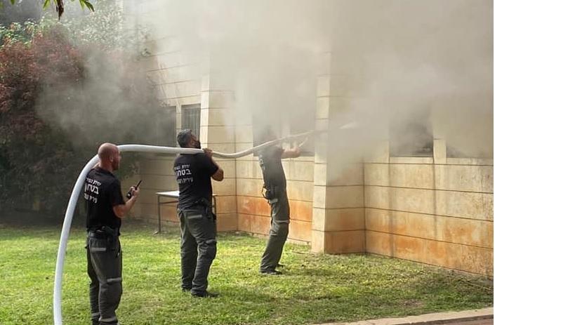 השריפה בתיכון אביב צילום עיריית רעננה