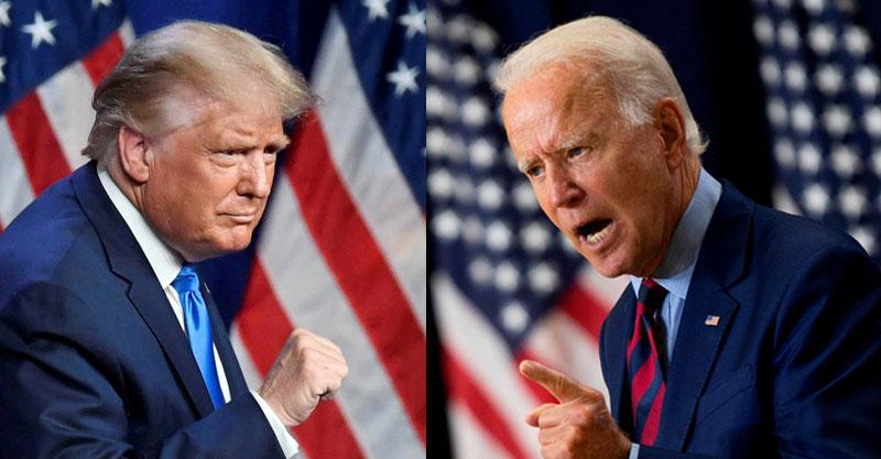 ג'ו ביידן, דונאלד טראמפ. צילום AFP, רויטרס