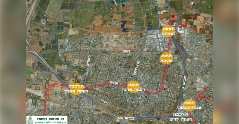 קו המטרו M1 ברעננה. קרדיט: עיריית רעננה