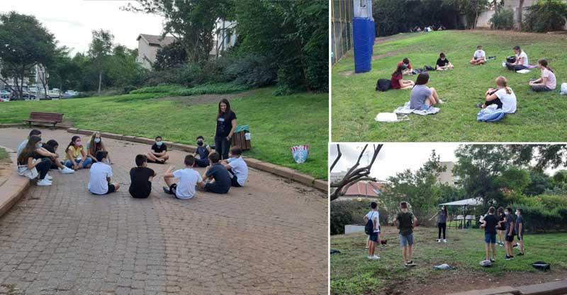 חטיבת רמון בפארק רעננה- למידה במרחב הציבורי